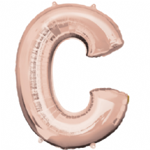 "Rose Gold Letter C Balloon - Rose Gold Letter Balloon (34"")"